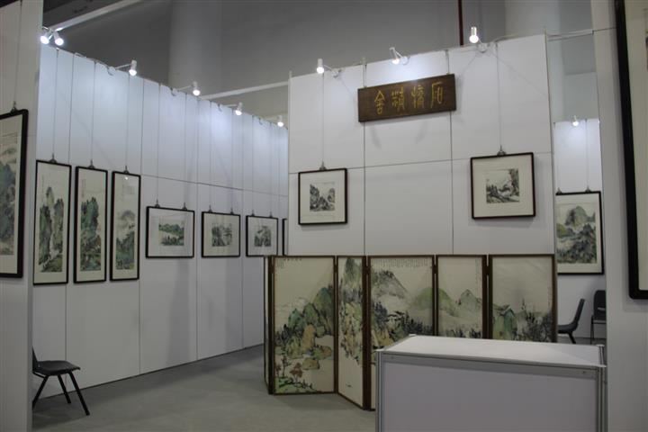 展览无缝板墙 书画作品展板 八棱柱pvc展板